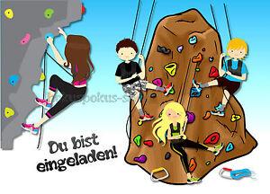 Das Bild Wird Geladen Einladungskarten Klettern Geburtstag Kindergeburtstag  Kletterhalle Kletterpark