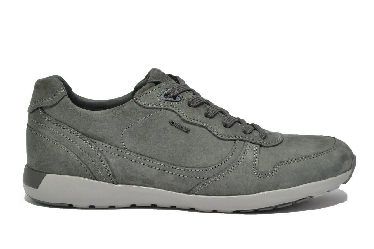 Scarpe casual da uomo  GEOX JEPSON sneakers grafite scarpe uomo mod. U54F8E