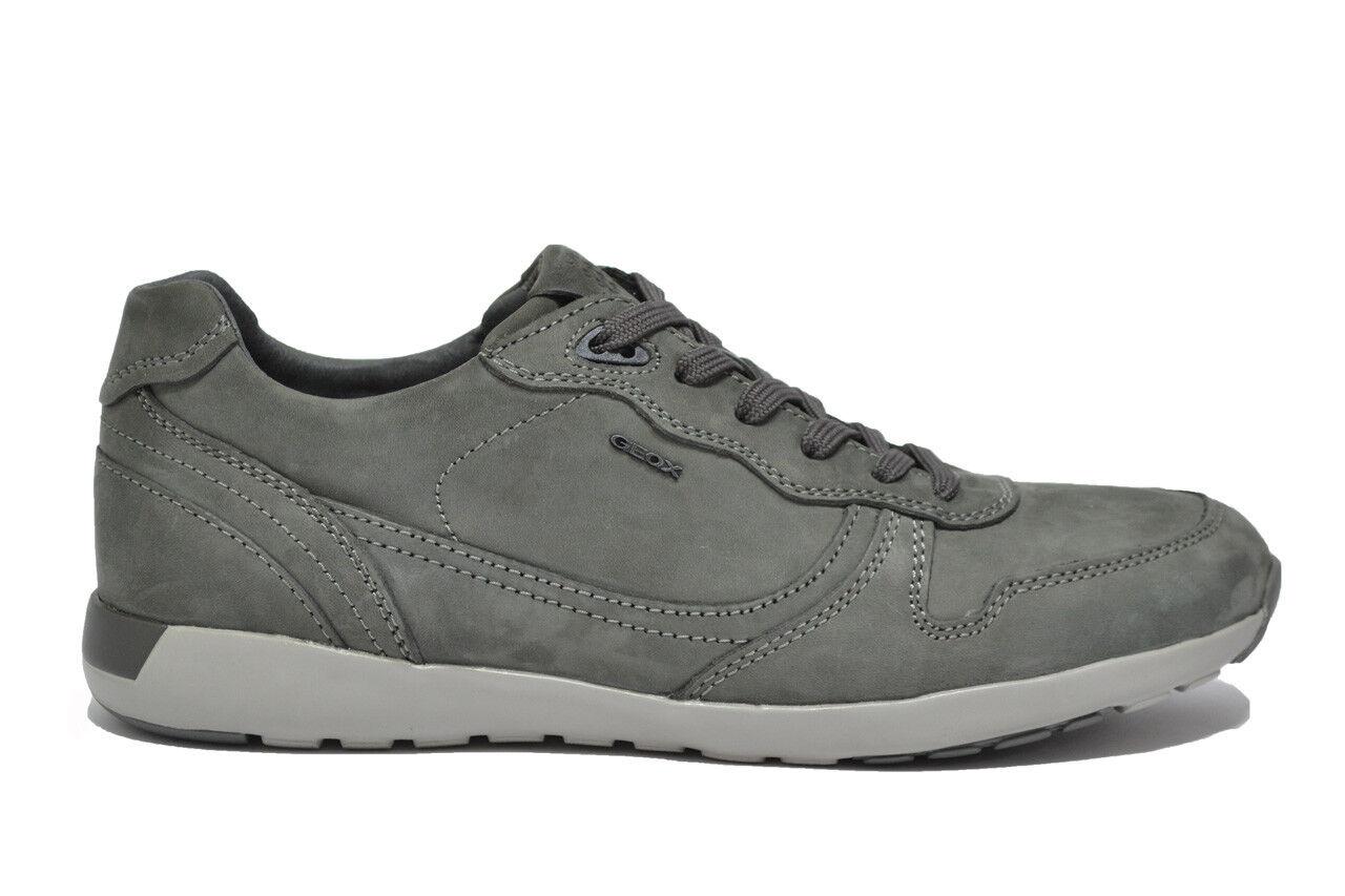 GEOX JEPSON scarpe da ginnastica grafite scarpe uomo mod. U54F8E
