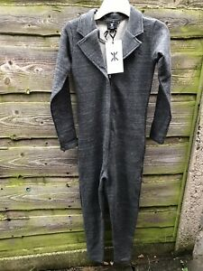 New-ONEPIECE-of-NORWAY-Quality-Grey-All-In-1-Jumpsuit-Loungewear-Size-S-Rrp-99