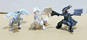"""Pokemon TOMY Gen 5 - 2 to 2.5"""" Figure / Toy Lot (3) - Kyurem + Zekrom + Reshiram"""