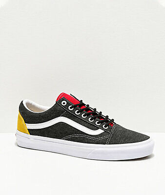 Nuovo Vans Old Skool Costiera Bianco Nero Giallo Rosso Scarpe da Skate Donna | eBay