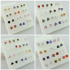 5MM-6MM Crystal Beads 925 SILVER PLATED Studs Earrings -Choose A Suitable Design