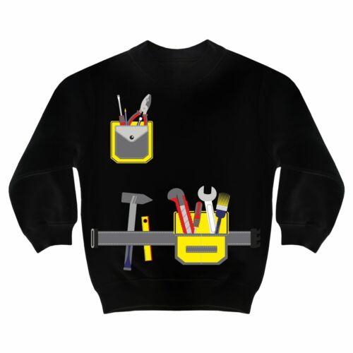 Kinder Pullover Handwerker Hammer Werkzeug Gürtel Geschenk Vater Sohn Geburtstag
