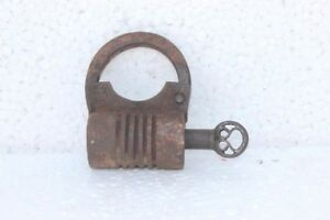 Metal Old Vintage Style Mini Padlock Small Luggage Box Key Lock Copper Color PB