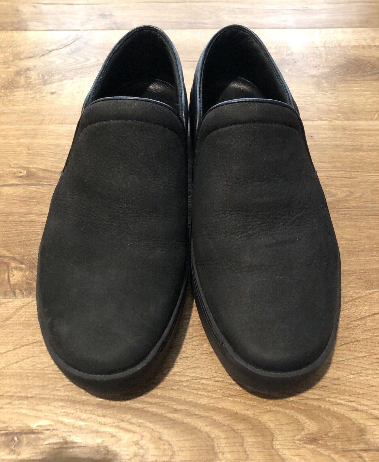 RAG & BONE  KENT 'Cuero Gamuza Negra Para Hombres Slip-on Loafer Tamaño Euro 42  325