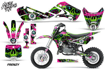Decal Graphic Kit Wrap For Kawasaki KLX 110 2002-2009 KX 65 2002-2018 NW GREEN