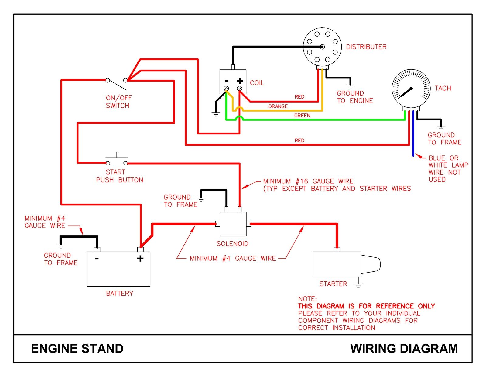 [DIAGRAM_4FR]  Engine Start / Test Stand Plans - Ford, GM, Mopar | eBay | Vw Engine Test Stand Wiring |  | eBay