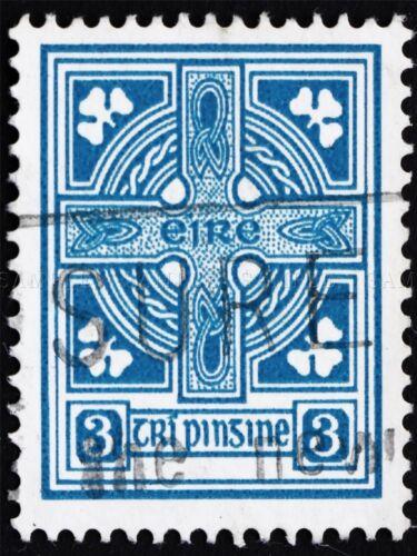POSTAGE STAMP IRELAND VINTAGE CELTIC CROSS PHOTO ART PRINT POSTER BMP1382A