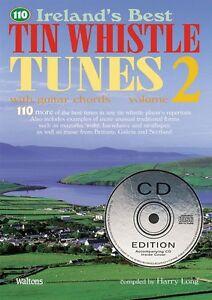 110 Ireland's Best Tin Whistle Tunes Volume 2 Avec Guitare Cordes 000634223-afficher Le Titre D'origine Fabrication Habile