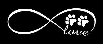 Infinity Love For Pet Vinyl Decal