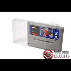 5 x GP11 SNES Game Cart Cartridge Protectors For Nintendo 0.4mm PET Display Case