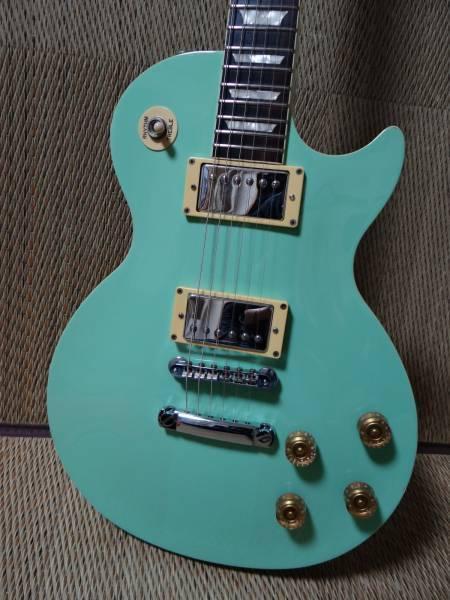 BRIAN Les Paul type emerald Grün  Deep Joint JAPAN rare useful EMS F S