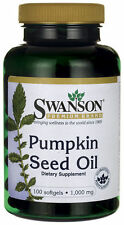 Swanson Pumpkin Seed Oil 1000 mg - 100 Softgels - Prostate Health FAST SHIPPING