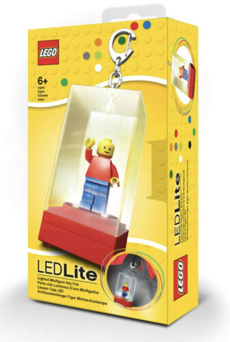 Lego Red LED Lighted Minifigure Keychain Display Case
