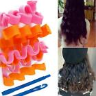 Hot 18 pcs Curl DIY Hair Curlers Rollers Spiral Circle Magic Big Wave Surge 30cm