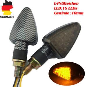 2x-18LED-Motorrad-Microblinker-Miniblinker-Blinker-ATV-Quad-Roller-E-Pruefzeichen