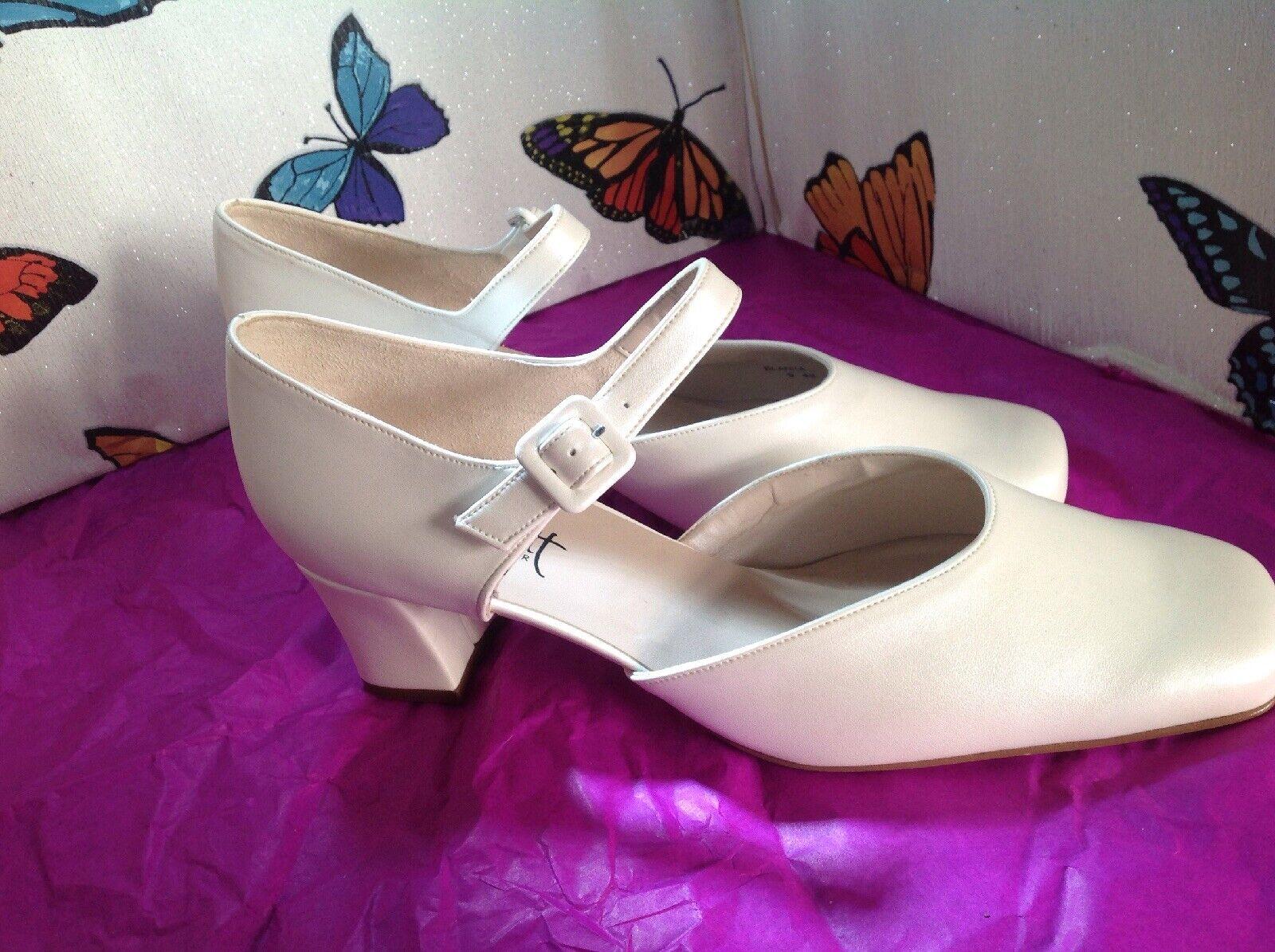 Ladies Beautiful Cream/ Champagne Pia Jamett Wedding Shoes Size 9 New Shop Clea