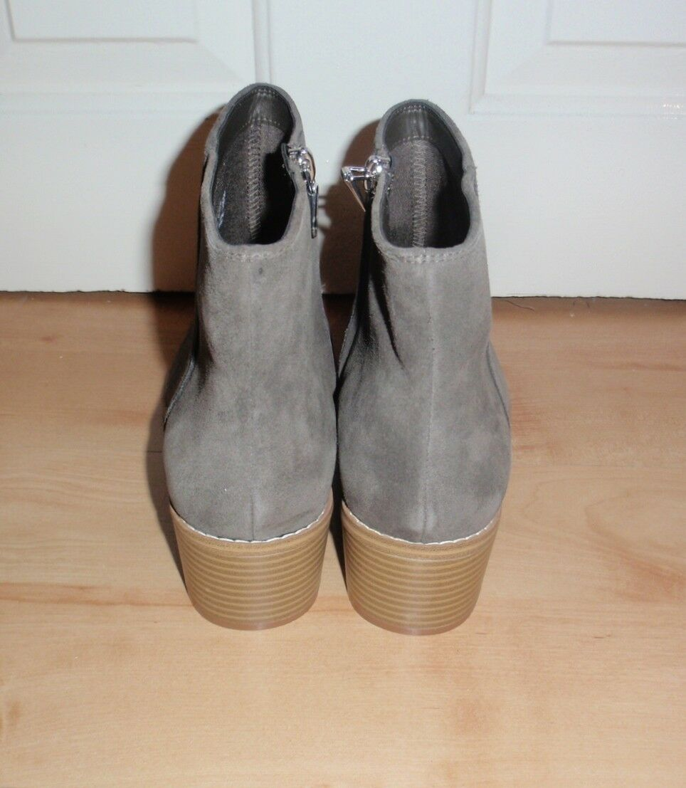 BNIB Clarks somerset Donna BRECCAN boots MYTH suede ankle heeled boots BRECCAN -various sizes c407b1