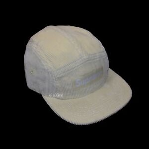 NWT Supreme NY Pale Yellow Box Logo Corduroy Velvet Camp Cap Hat ... 2d30717fa408