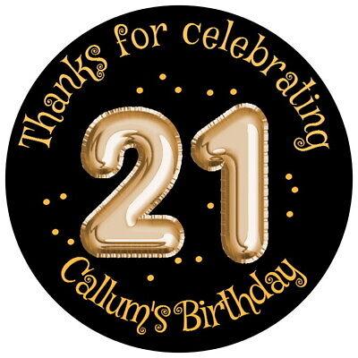 Personalised Gloss 21st Festa Di Compleanno Favore Etichette, Adesivi Di Ringraziamento Qualsiasi Età- Sangue Nutriente E Regolazione Dello Spirito