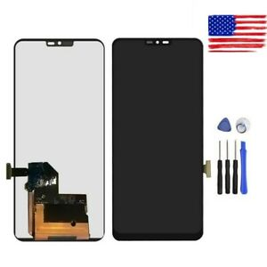 NA Replacement LCD Display +Touch Screen for LG LCD Screen and Digitizer Full Assembly for LG G7 ThinQ // G710 G710EM G710PM G710VMP Black Color : Black FURUMO