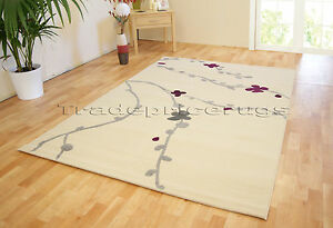 SMALL-LARGE-CREAM-MODERN-FLORAL-PETAL-NON-SHED-GOOD-QUALITY-SOFT-SALE-PRICE-RUG