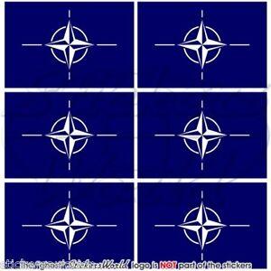 "Autocollants x2 L/'OTAN bandiera OTAN Alleanza Nord Atlantica adesivi 75 mm 3/"""