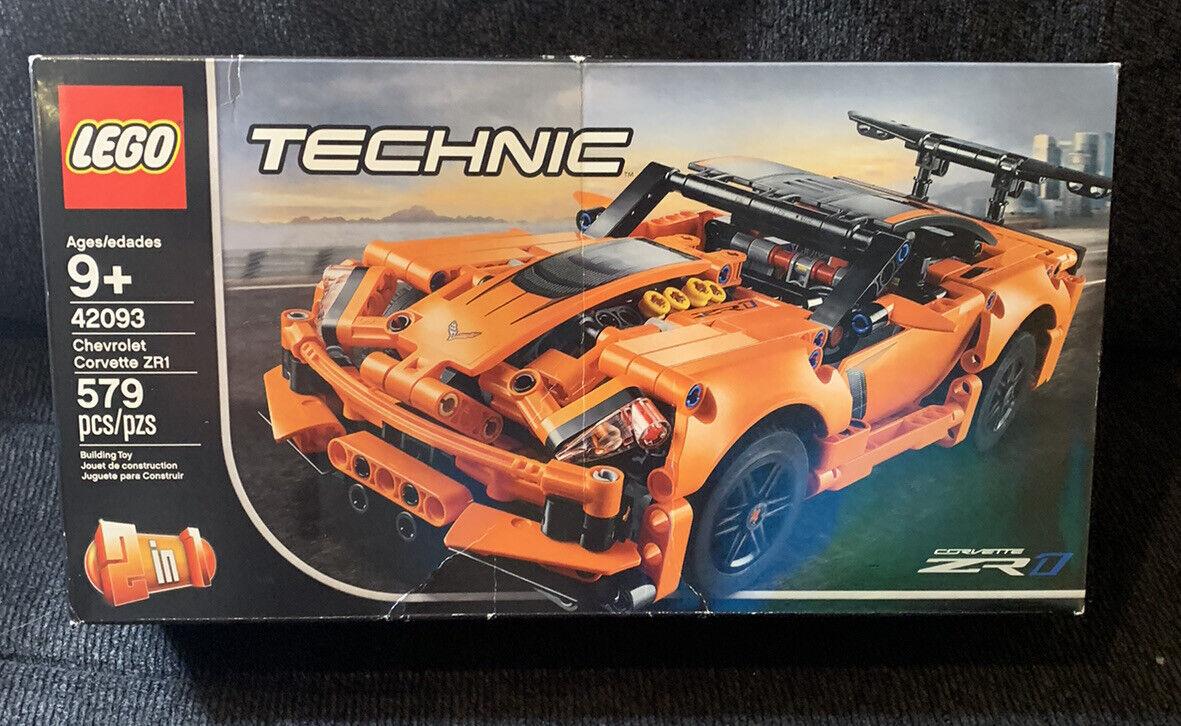 Lego 42093 Technic Chevrolet Corvette Zr1 Toy Car Orange Black
