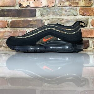 Details about Nike Air Max 97 RLT Black Orange Real Tree Running Shoes Men's Size 9.5