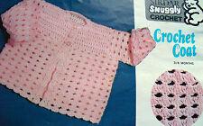 #74 Baby Girl DK Matinee Coat 3-6months Vintage Crochet Pattern