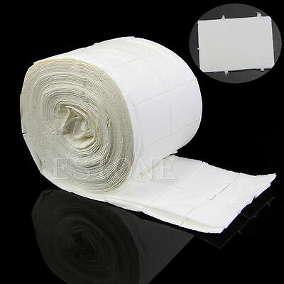 500Pcs Lint Free Roll Care Polish Tips Acrylic Nail Art Cleaner Wipes Pads Paper