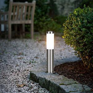 Lampione per esterno paletto da giardino moderno acciaio for Terra per giardino