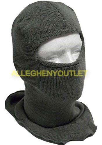 USGI-Military-ECW-Wool-Blend-Balaclava-Hood-Ski-Face-Mask-Foliage-Green-NEW