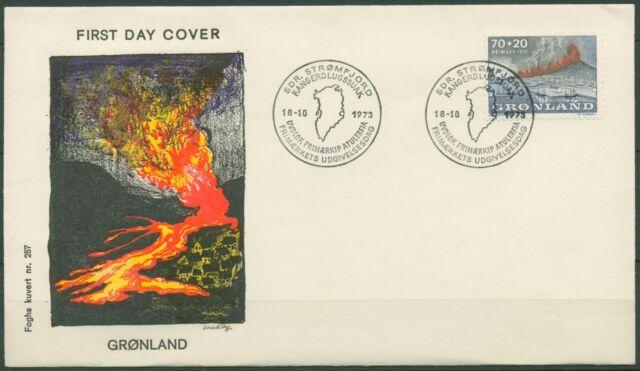 Grönland 1973 Heimaey Island Vulkan Eldfell Ersttagsbrief 86 FDC (X96640)
