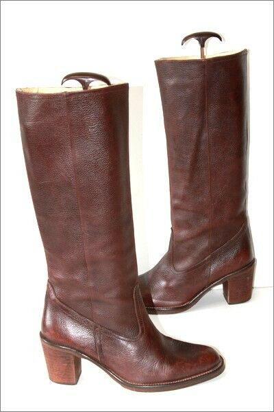 Barceló Leather Boots Granulated Brown Lined leather T 40 TOP CONDITION