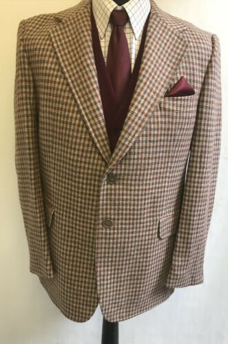 Foster Uk vintage vintage in uomo Point tweed da Ms2475 Fashion 42 taglia Giacca E4xUqTwB