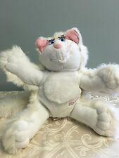 "1987 Fisher Price Purr-Tenders Plush Cat White 12"" Untested Hallmark"