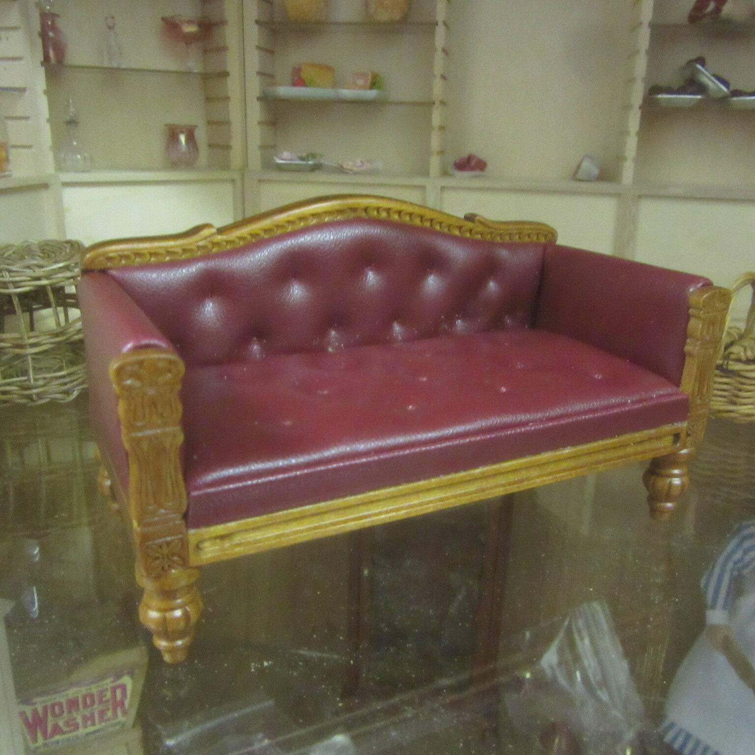 Casa De Muñecas Muebles De Cuero Sofa R0439 quarlity