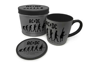 Boxed Gift Set - Mug & Coaster a Gift Tin - AC/DC EVOLUTION OF ROCK - 85528