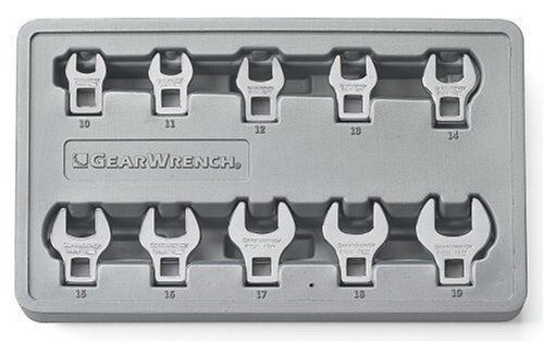 Kd Tools 81909 10 Piece 3 8  Drive Metric Crowfoot Wrench Set