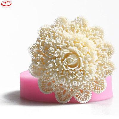 3D Lace Flower Silicone Fondant Mold Cake Decorating Sugarcraft Baking Mould NEW