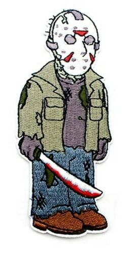 Friday the 13th Jason 4.5 Inches Tall Embroidered Iron On Patch