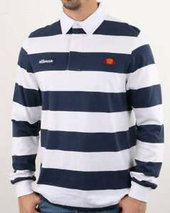 Ellesse Striped Rugby Shirt In White