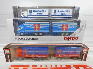 Ca300-0-5-3x-Herpa-1-87-h0-camiones-Mercedes-Augustiner-080002-811327-Neuw-embalaje-original