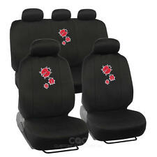 Lady Bug Car Seat Cover Front Rear Full Set Auto Accessory Universal Fit