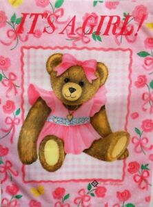 It's a Girl Baby Announcement Garden Flag by Toland #878