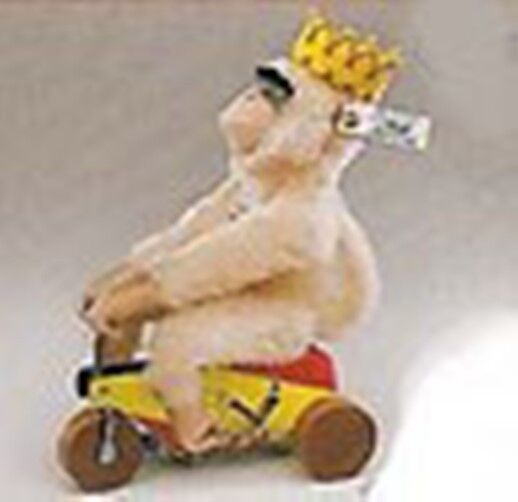 STEIFF   MONK KING 1925  REPLICA EAN 400933 LIM ED 1999 MONKEY RIDING TRICYCLE