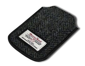 Harris Tweed IPhone CASE GRIGIO/NERO HERRINGBONE PATTERN NUOVO 							 							</span>