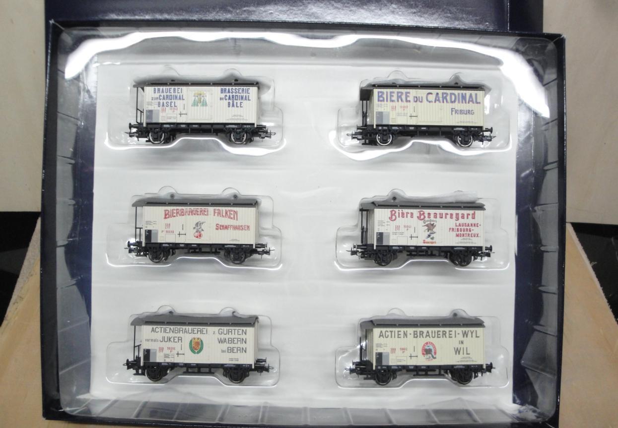 Liliput Nr L240054, 6-Set GüterWagen, Bierwagen K2 SBB-CFF, Epoche I, H0, neu    Sofortige Lieferung